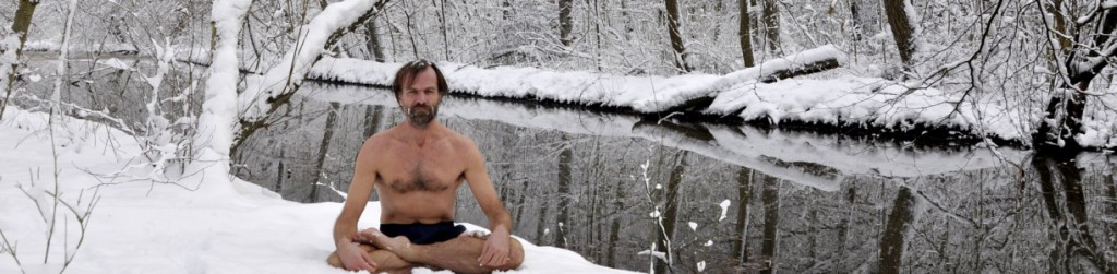 Wim Hof snow meditation